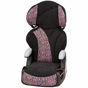 Evenflo Big Kid Sport Booster Car Seat - Neon Leopard