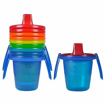 The First Years Take & Toss 7oz. Spill Proof Cups with Removable Handles - 4 Pack