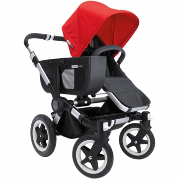 Bugaboo Donkey Mono Stroller in Black/Red