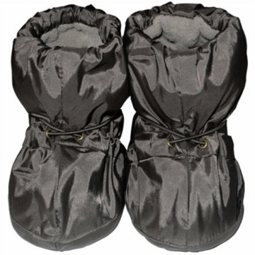 7 A.M Enfant Booties 212 Small 0-6 Months in Metallic Charcoal
