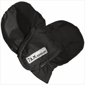 7 A.M. Enfant Mittens 212 Ex-Large 2-4 Years in Black