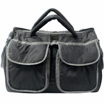 7 A.M. Enfant Voyage Diaper Bag Small in Black/Gray