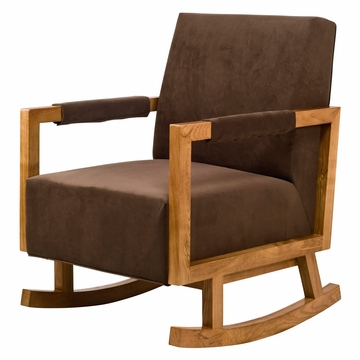 Nurseryworks Bungalow Rocker - Mocha (Light Legs)