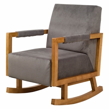 Nurseryworks Bungalow Rocker - Slate (Light Legs)