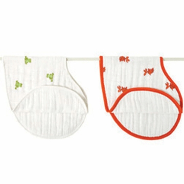 Aden + Anais 100% Cotton Muslin Burpy Bib-2 Pack - Mad About Baby