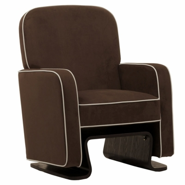 Nurseryworks Cole Glider - Mocha with Ecru Piping (Dark Legs)