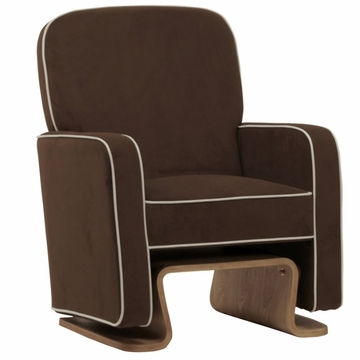 Nurseryworks Cole Glider - Mocha with Ecru Piping (Light Legs)