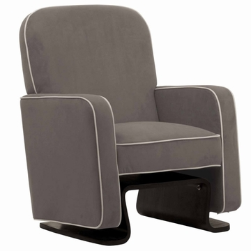 Nurseryworks Cole Glider - Slate with Ecru Piping (Dark Legs)