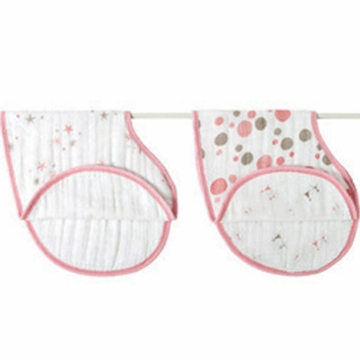 Aden + Anais 100% Cotton Muslin Burpy Bib-2 Pack - Star Light