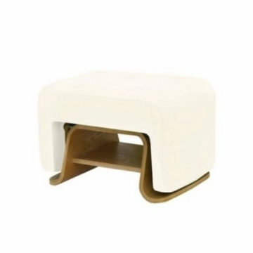 Nurseryworks Cole Ottoman - Ecru (Light Legs)