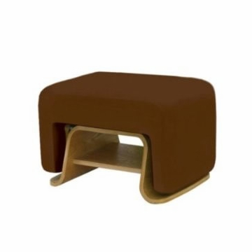 Nurseryworks Cole Ottoman - Mocha (Light Legs)