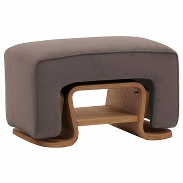 Nurseryworks Cole Ottoman - Slate (Light Legs)