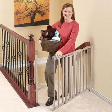 Evenflo Secure Step Metal Top of Stairs Gate