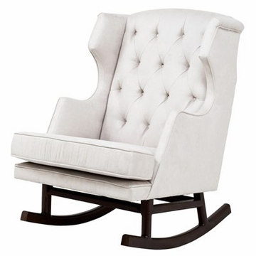 Nurseryworks Empire Rocker - Ecru (Dark Legs)