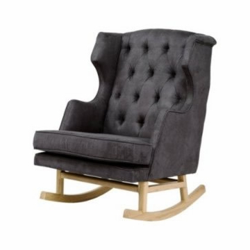 Nurseryworks Empire Rocker - Slate (Light Legs)