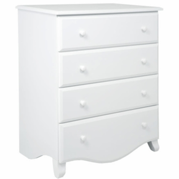DaVinci Emily 4-Drawer Dresser in White Finish