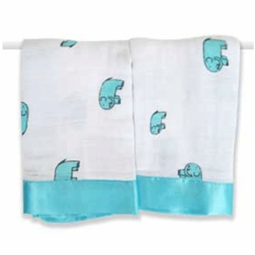 Aden + Anais Issie Security Blankets - 2 Pack - Declan Elephant