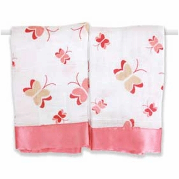 Aden + Anais Issie Security Blankets in Nay Nay Butterflies- 2 Pack