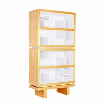 Nurseryworks Storytime Double Bookcase - Light