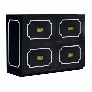 Nurseryworks Uptown Changer - Black with Cream Molding