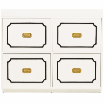 Nurseryworks Uptown Changer - Cream with Black Molding