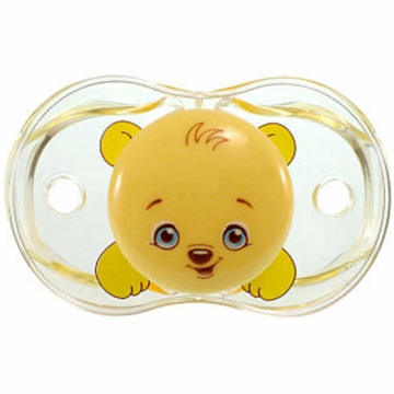 Razbaby Keep it Kleen Pacifier in Bobby Bear