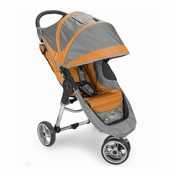 "Baby Jogger City Mini Single 8"" Stroller 2011 Orange/Gray"