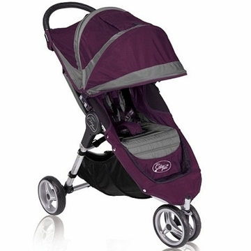 "Baby Jogger City Mini Single 8"" Stroller 2011 Purple/Gray"