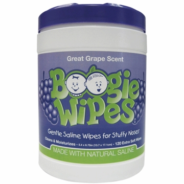 Boogies Wipes Canister Grape- 120 ct
