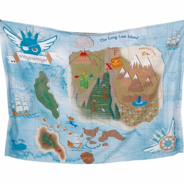 Weegoamigo Adventure Blanket - Treasure Map
