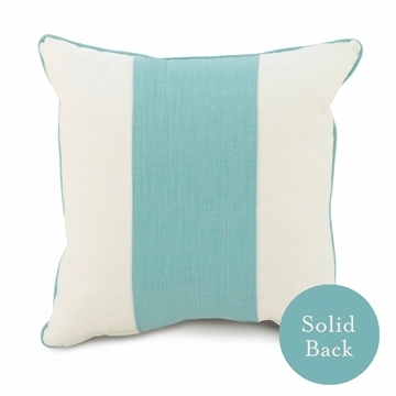 "Oilo 18"" x 18"" Band Pillow in Aqua"