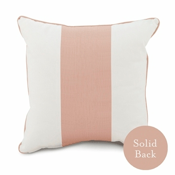"Oilo 18"" x 18"" Band Pillow Blush"