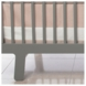 Oilo Solid Band Crib Skirt in Blush
