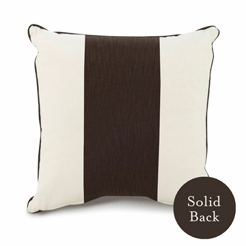 "Oilo 18"" x 18"" Band Pillow in Brown"