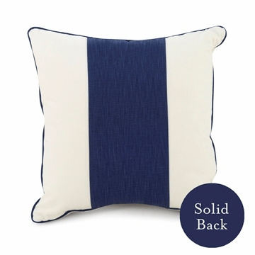 "Oilo 18"" x 18"" Band Pillow in Cobalt Blue"