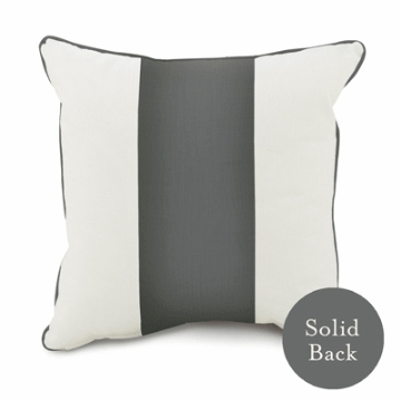 "Oilo 18"" x 18"" Band Pillow in Pewter"