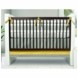 Oilo Triple Band 3 Piece Crib Bedding Set in Stone & Citron