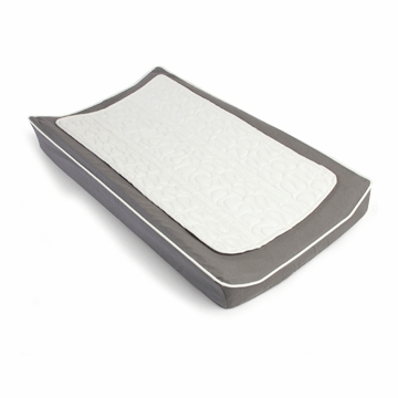 Oilo Changing Pad Cover & Topper in Pewter