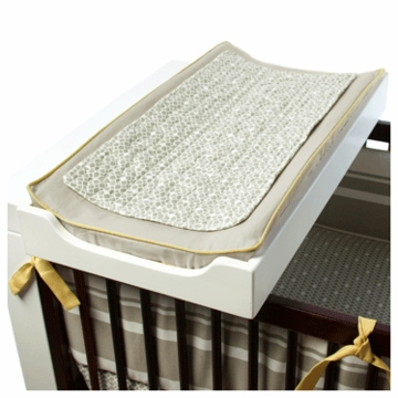 Oilo Changing Pad Cover & Topper in Stone & Citron