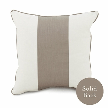 "Oilo 18"" x 18"" Band Pillow in Taupe"