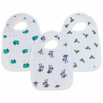 Aden + Anais Snap Bibs 3 Pack - Jungle Jam