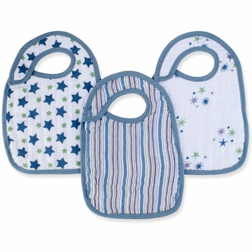 Aden + Anais Snap Bibs 3 Pack - Prince Charming