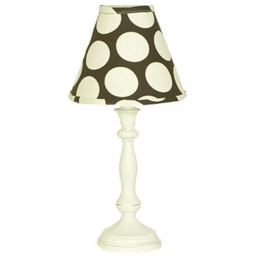 Cotton Tale N. Selby Raspberry Dot Lamp and Shade