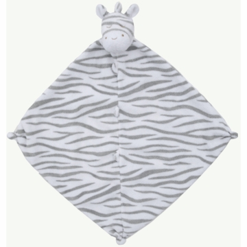 Angel Dear Dark Zebra Blankie