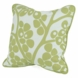 "Oilo Modern Berries 18"" x 18"" Pillow in Spring Green"