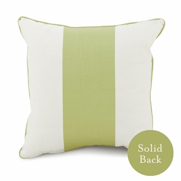 "Oilo Modern Berries 18"" x 18"" Band Pillow in Spring Green"