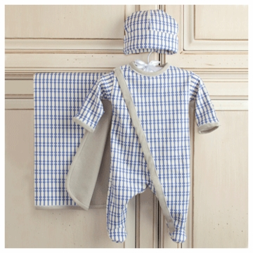 Oilo Newborn 3-Piece Layette Set in Little Boy Blue