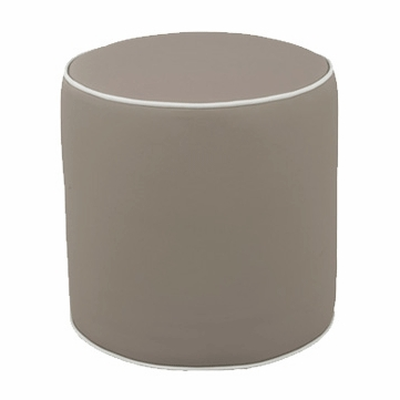 Oilo Pouf in Taupe Faux Leather