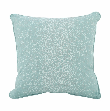 "Oilo Raindrops 18"" x 18"" Pillow in Aqua"