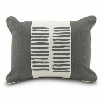 "Oilo Stick 13"" x 17"" Pillow in Pewter"